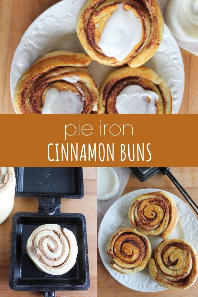 Pie Iron Cinnamon Buns