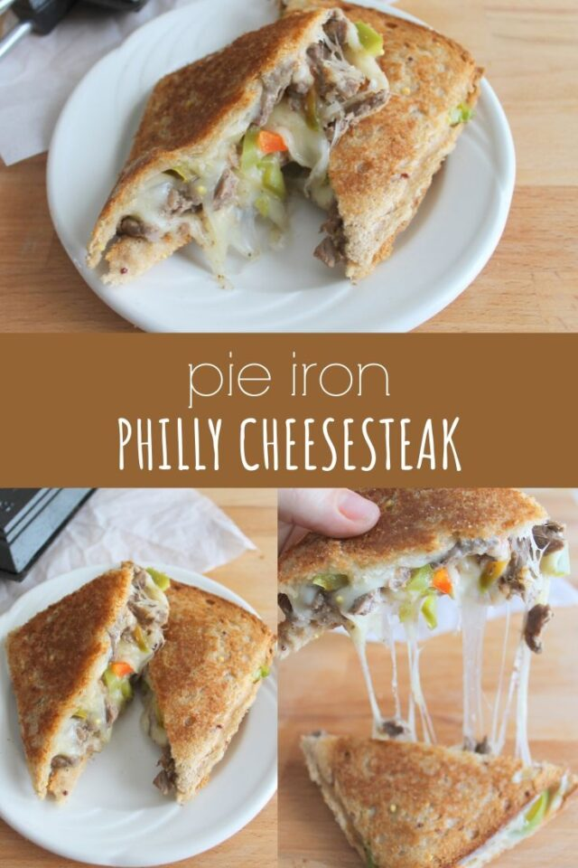 Pie Iron Philly Cheesesteak