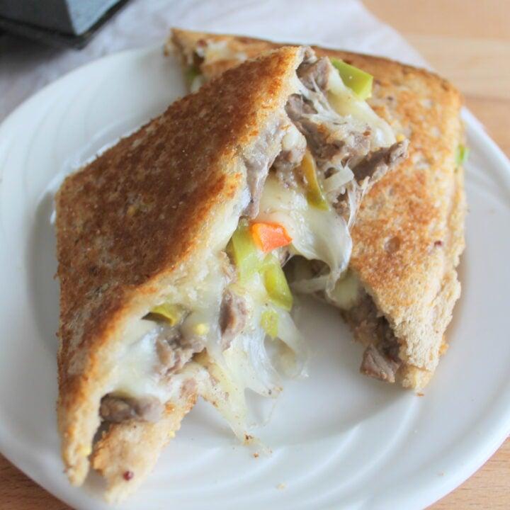 Pie Iron Philly Cheesesteak