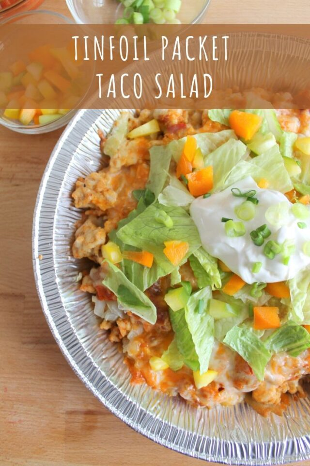 Tinfoil Packet Taco Salad