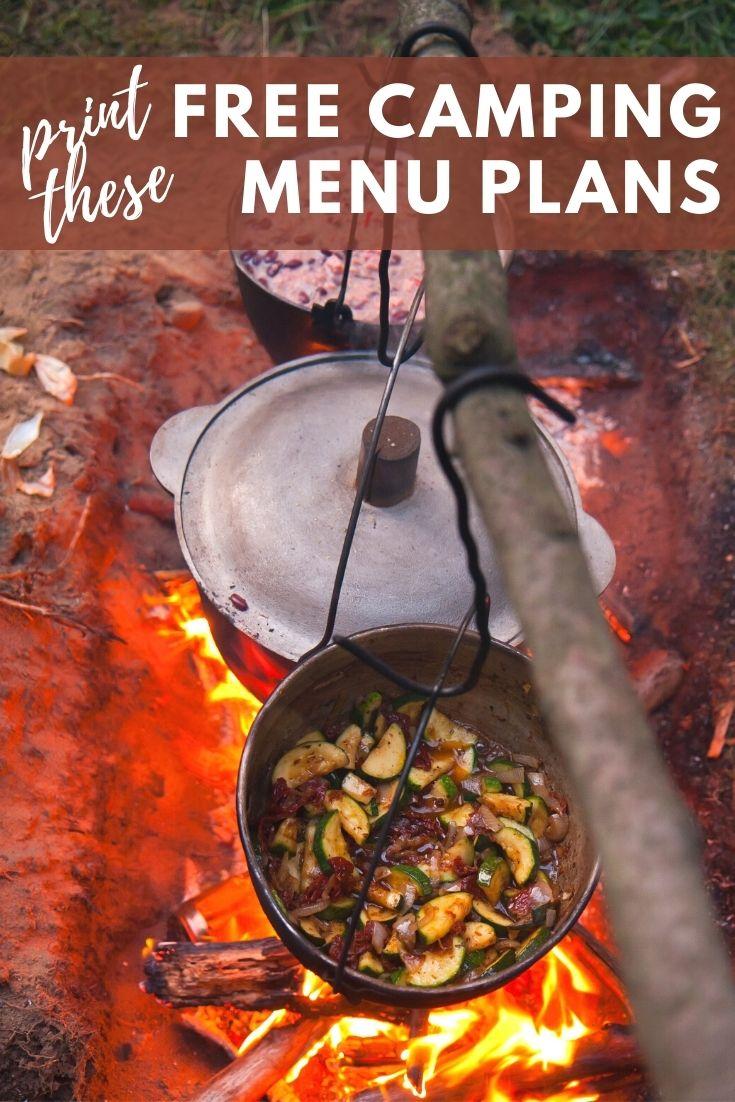 Free Camping Menu Plans