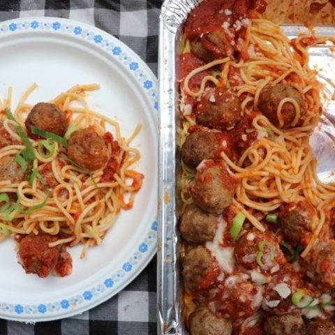 Easy Campfire Spaghetti Bake Recipe