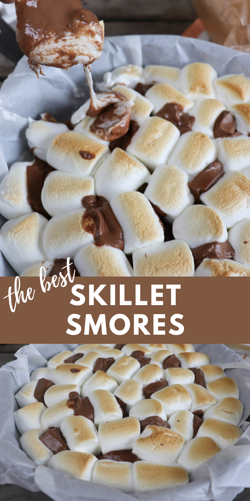 Have you tried the best skillet smores yet?! This smores recipe is absolutely delicious, easy to make and feeds a crowd!
