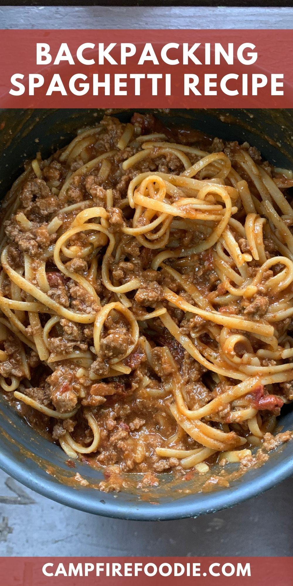 Simple Backpacking Spaghetti Recipe