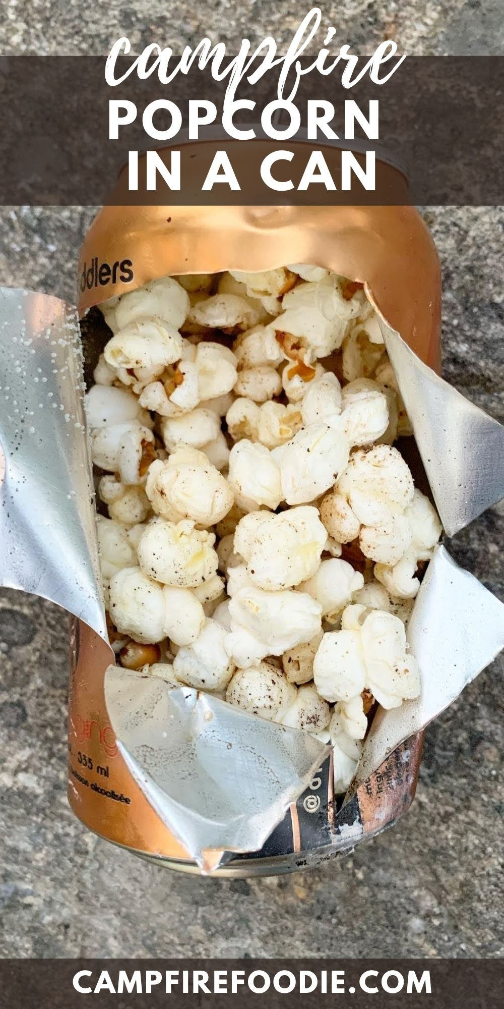 Campfire Popcorn in a Can