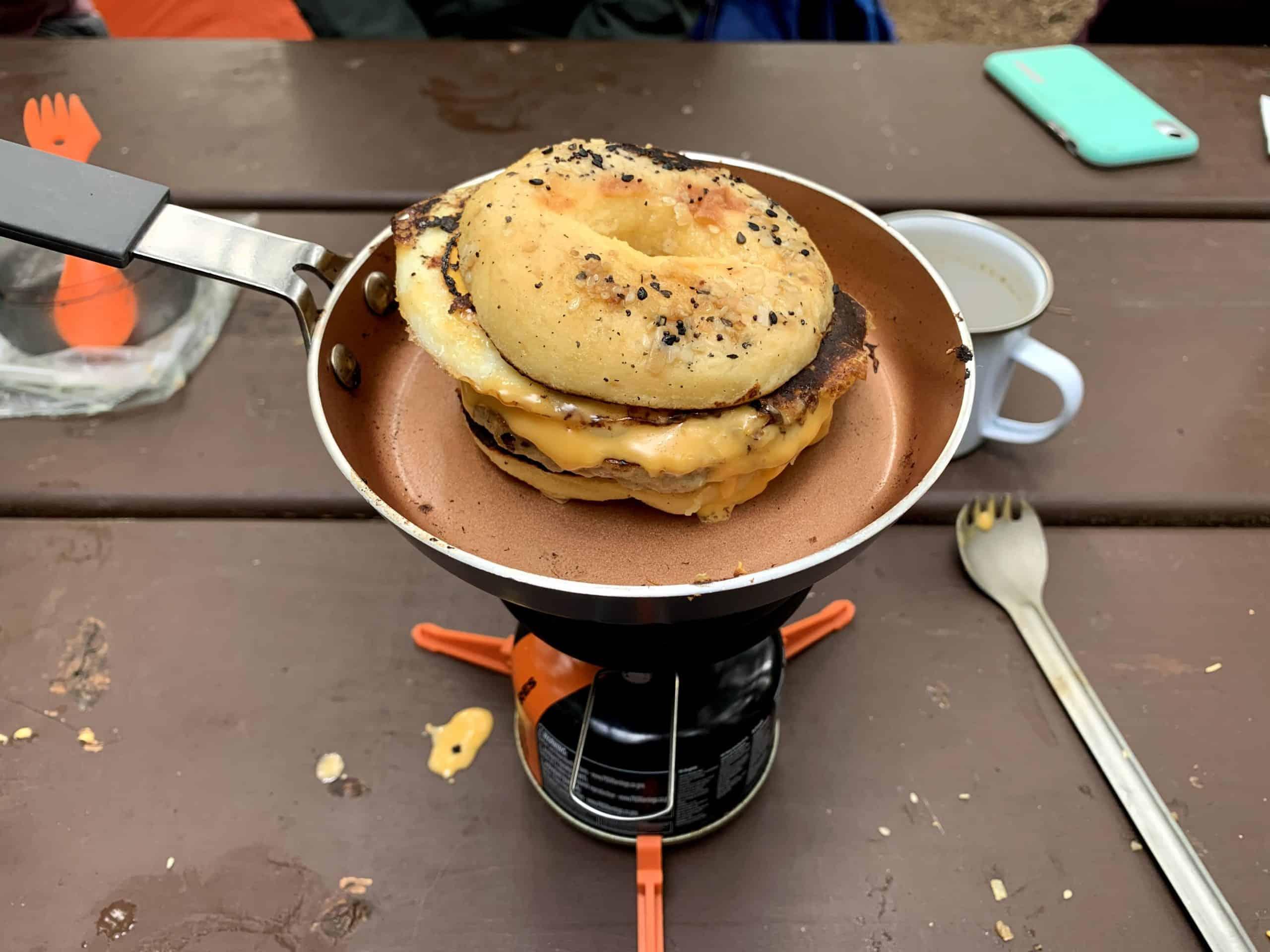 Backpacking Breakfast Bagel Recipe