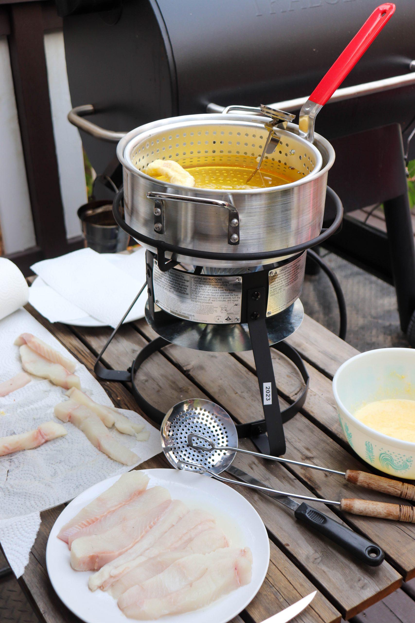 Camping Fish Tacos Process